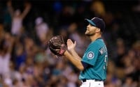 After a disastrous stint with Texas, Tom Wilhelmsen has regained his form since returning to the M's. (AP)