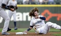 The Mariners were held scoreless until the final inning in their 4-1 loss to New York. (AP)