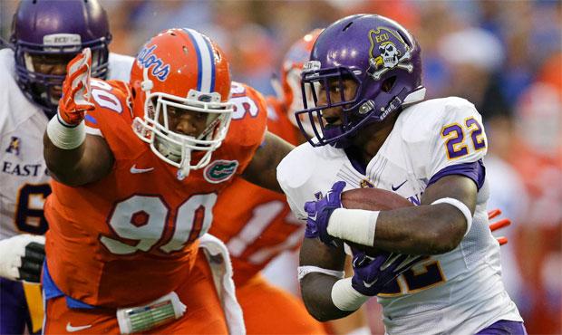 Jonathan Bullard recorded 12 sacks and 34 tackles for loss during four seasons at Florida. (AP)...