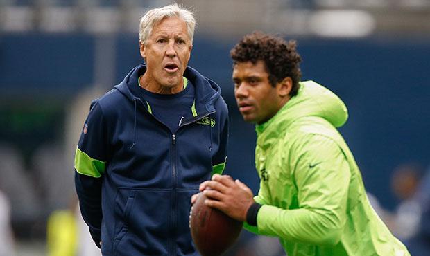 Seahawks coach Pete Carroll, QB Russell Wilson...